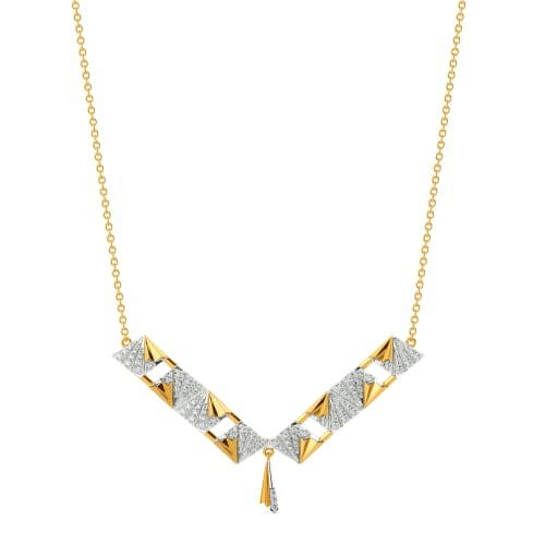 Majestic Folds Diamond Necklaces