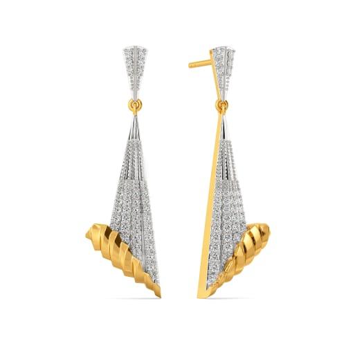 Sleek N Sharp Diamond Earrings