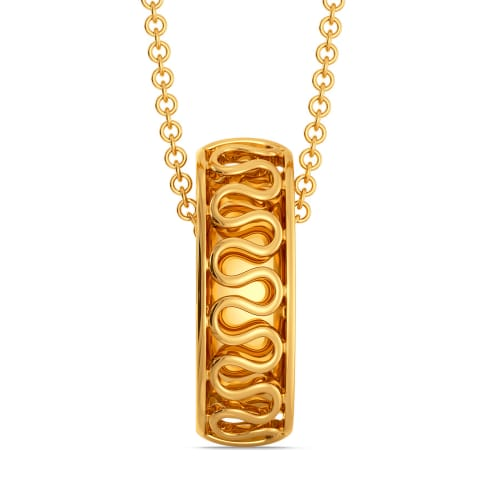 Knit Knot Gold Pendants