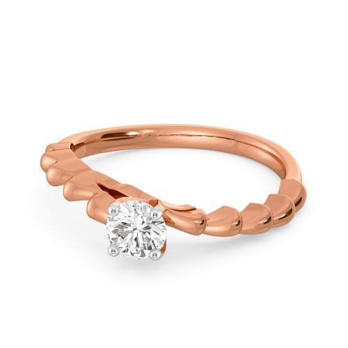 Pleat Delight Diamond Rings