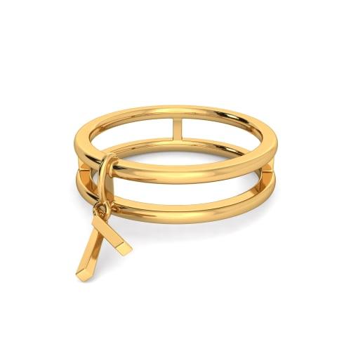 Fringe Bouquet  Gold Rings