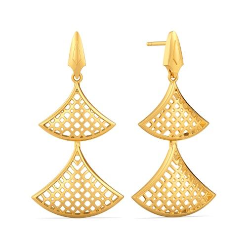 Totally Tulle Gold Earrings