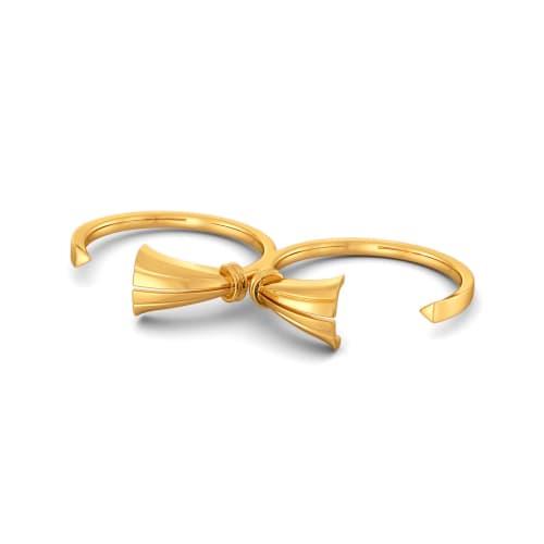 Tassel Tuft Gold Rings