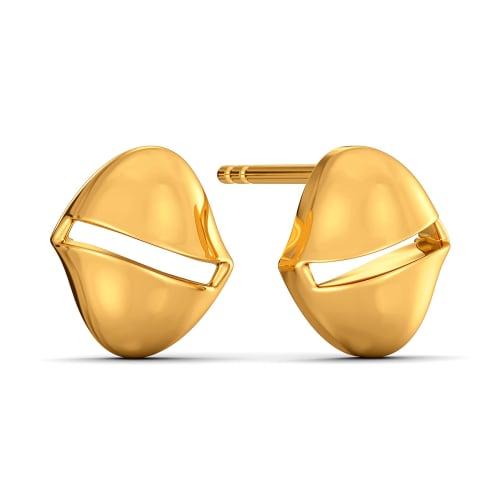 Winter Hats Gold Earrings