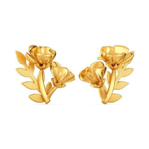 Flower Fantasy Gold Earrings