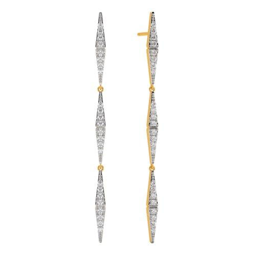 Mystic N Mod Diamond Earrings