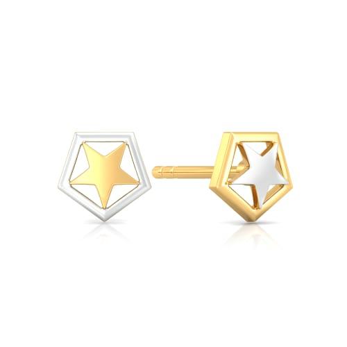 Sky Gazer Gold Earrings