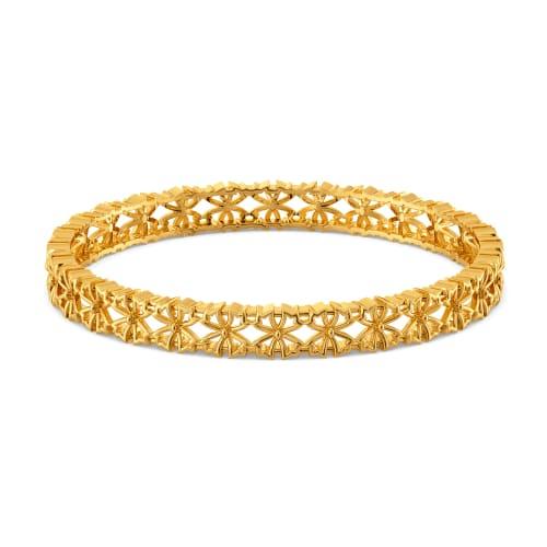 Blossom Bash Gold Bangles
