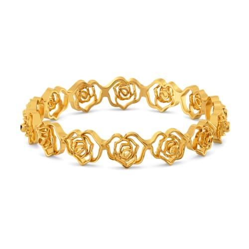 Rosy Radiance Gold Bangles