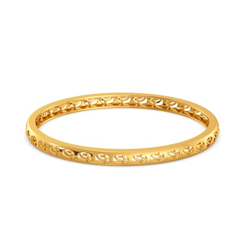 Book of Flowers Gold Bangles