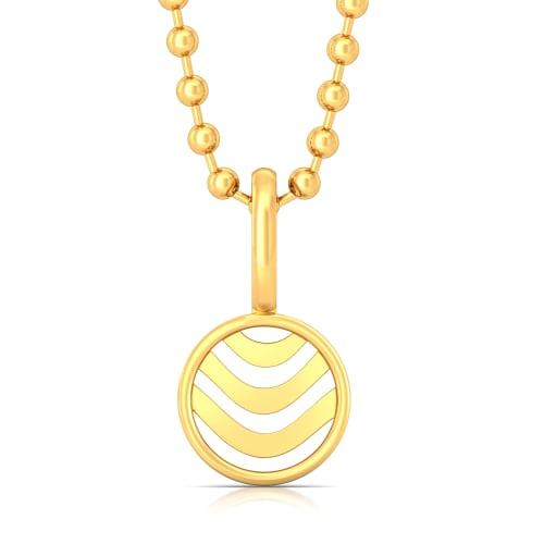 Waves Gold Pendants