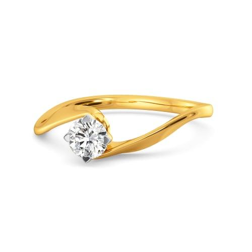 Waves of Love Diamond Rings