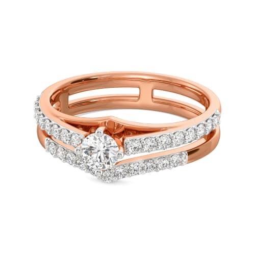 Double Dote Diamond Rings