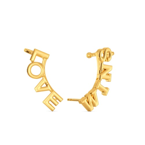 Love Wins Gold Earrings