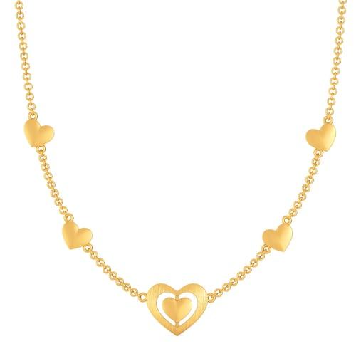 Parisian Hearts Gold Necklaces