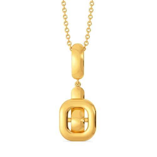Clasp Control Gold Pendants