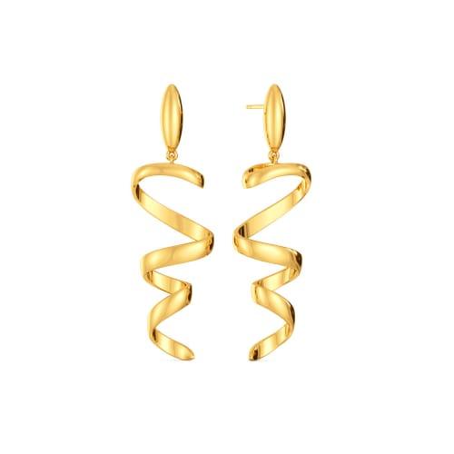 Wrap A Sash Gold Earrings