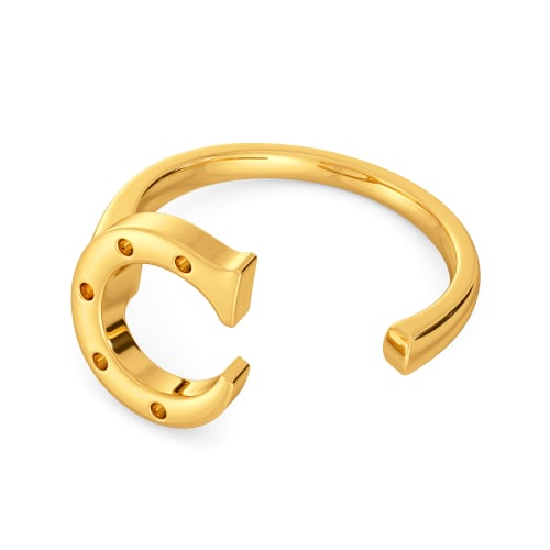 Curious As a Cat Gold Rings