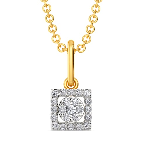 Suave E Square Diamond Pendants