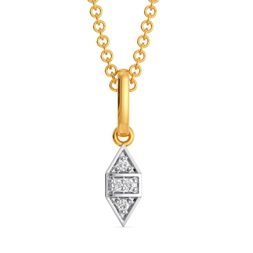 Chequered Twins Diamond Pendants