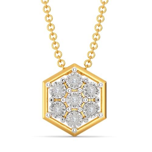 Ringed Radiance Diamond Pendants