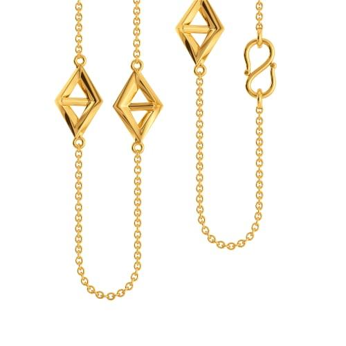 Rhomb Com Gold Chains