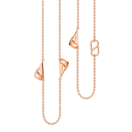 Rose Clad Gold Chains