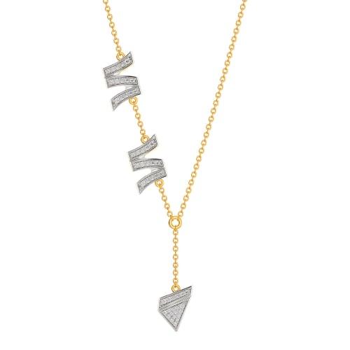 Edge On Diamond Necklaces