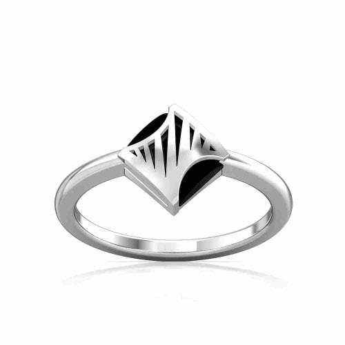 Zebra Crossing Gemstone Rings