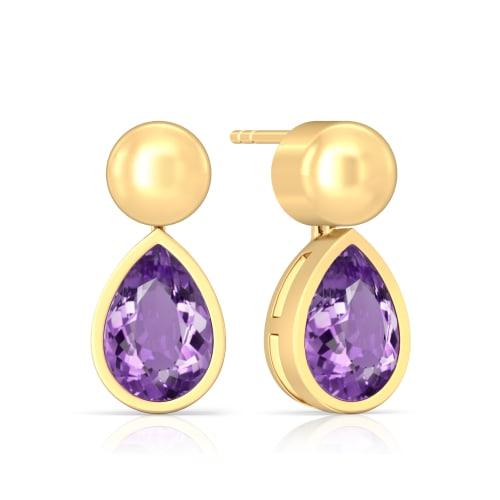 Purple Haze Gemstone Earrings