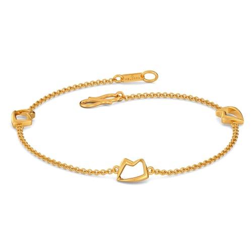 Fedora Finesse Gold Bracelets