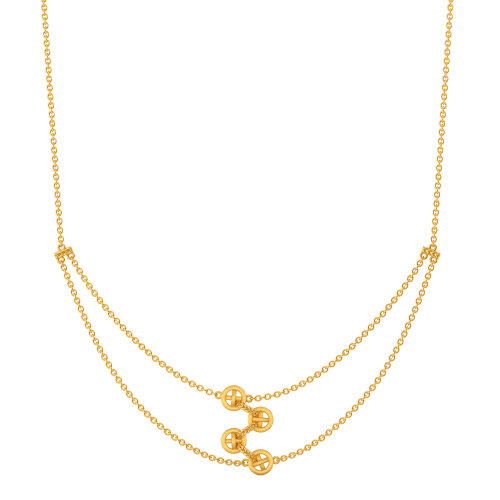 Forget Me Knot Gold Necklaces