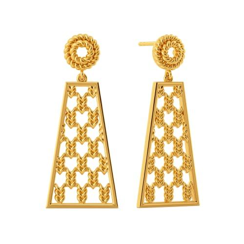Parade O Braid Gold Earrings