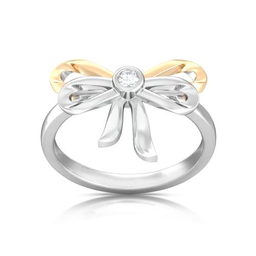 Ribbon Bow Diamond Rings