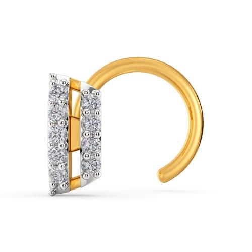 The Edgy Edit Diamond Nose Pins
