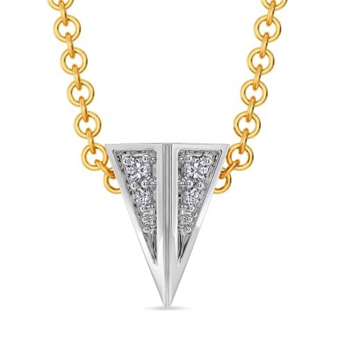 Broad Bends Diamond Pendants