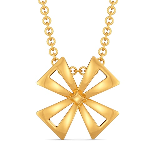 Bow Blooms Gold Pendants