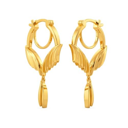 Pleats on Fleek Gold Earrings