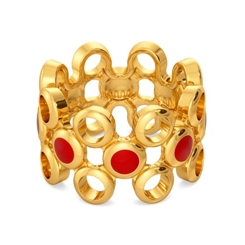 The Scarlet Sun Gold Rings