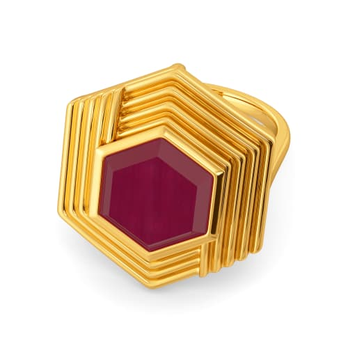 Crimson Stars Gemstone Rings