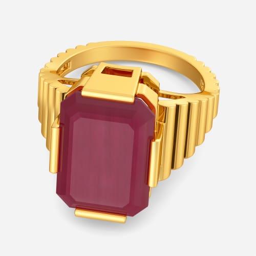Mystic Maroons Gemstone Rings