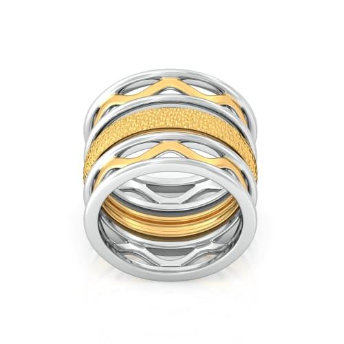 Hippie Turn Gold Rings