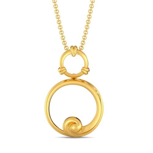 Curly Beach Gold Pendants