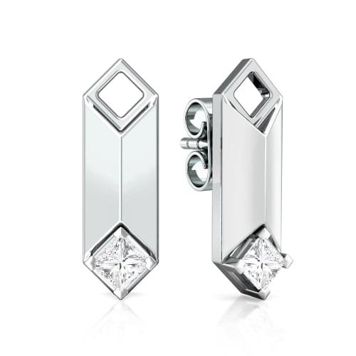 Constructive edge Diamond Earrings