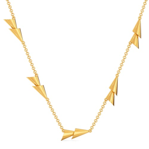 Twin Tassels Gold Necklaces