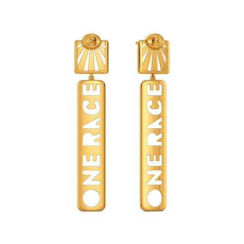 United Fervour Gold Earrings