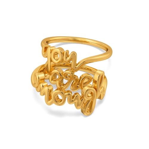You Are Enough Gold Rings