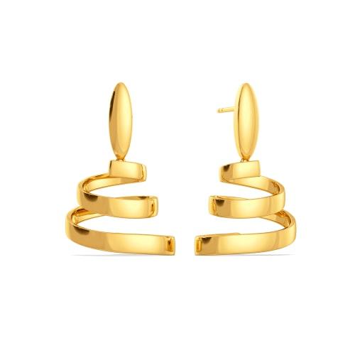 Cinch Tight Gold Earrings