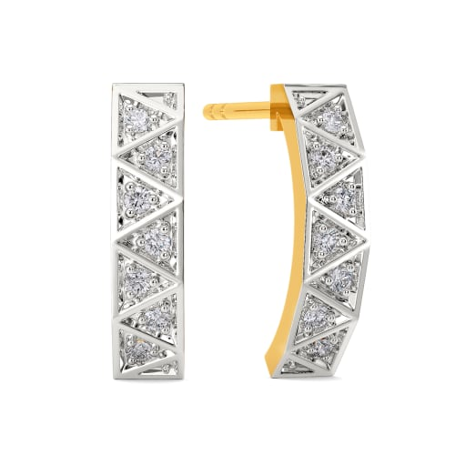 Tartan Theory Diamond Earrings