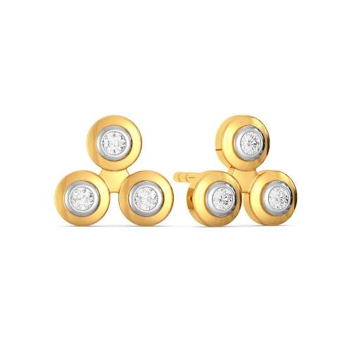 The Triple Step Diamond Earrings